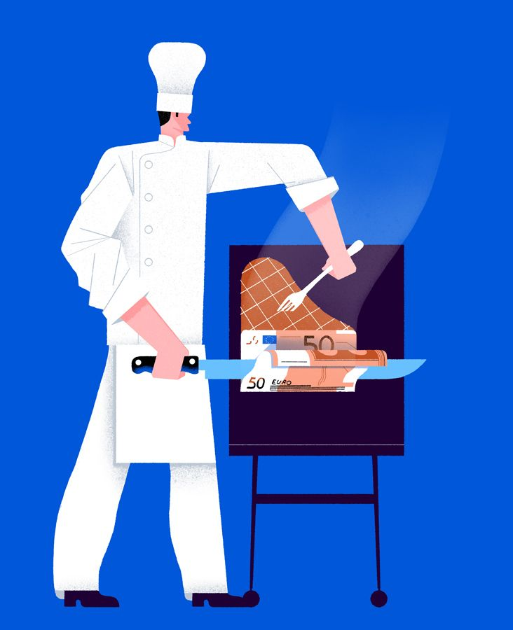 Chef - illustration, chef, food - giulio_castagnaro | ello