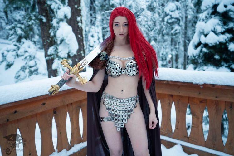 redsonja, cosplay, snow, winter - ruinedcarpet | ello