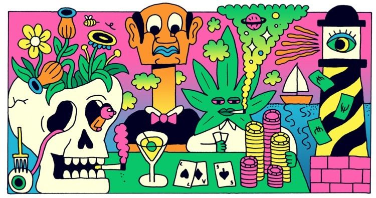 Editorial illustration VICE Bel - jangojim | ello