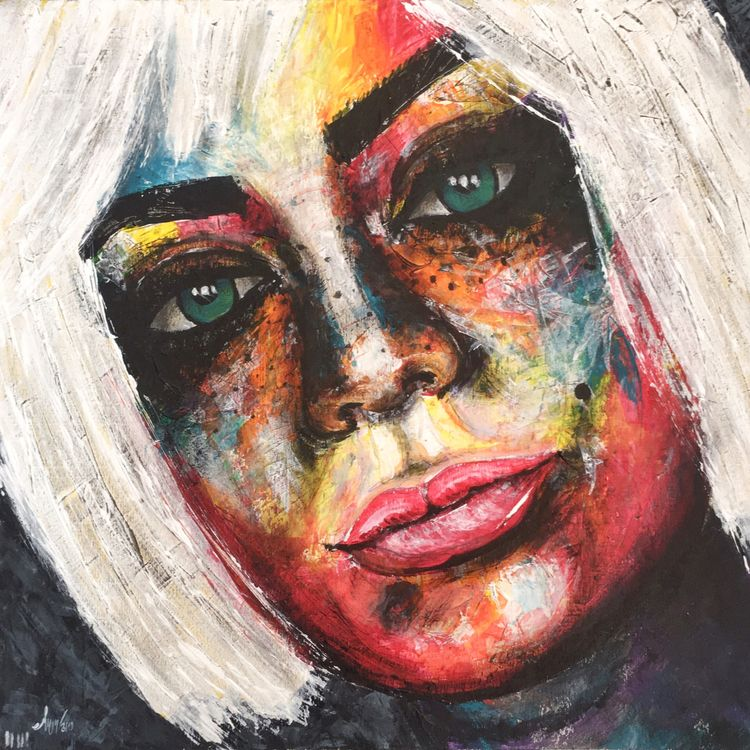 Portrait 12, acrylic panel, 42x - edwnart | ello