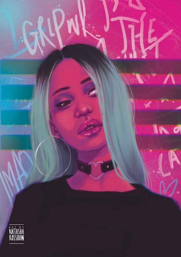 average girl - illustration, digitalart - artbynatasharossouw   ello