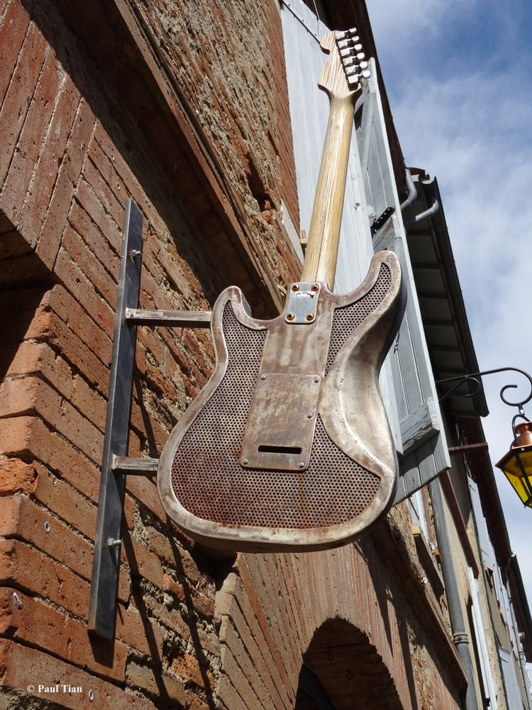 Music sign  - music, guitar, street - paultian | ello