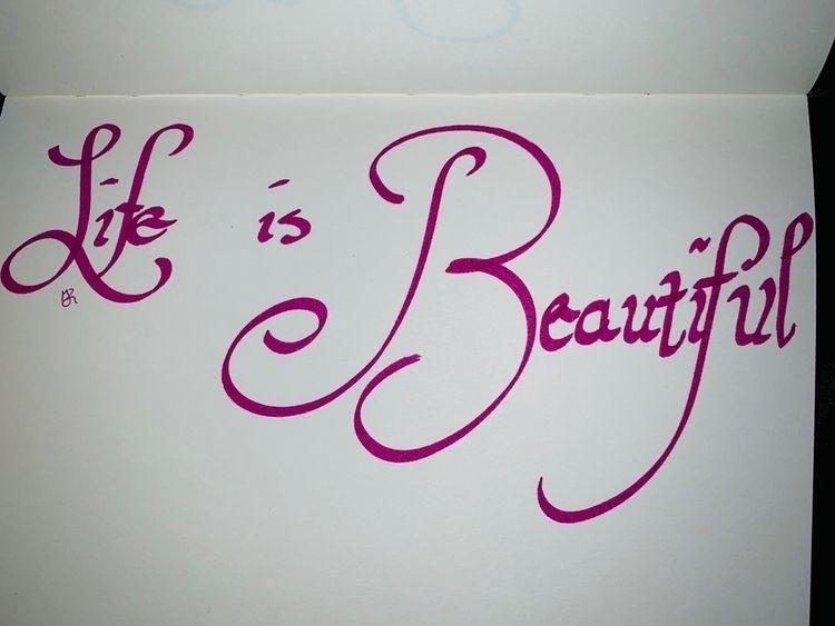 calligraphypractice, calligraphy - melanie-jane | ello