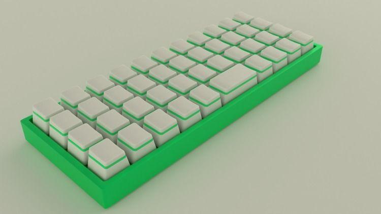 Mechanical keyboard design - blender - teddydd | ello