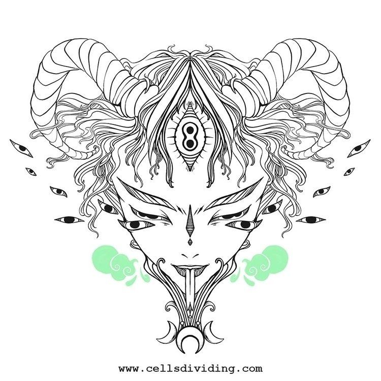 line art illustration working w - cellsdividing | ello