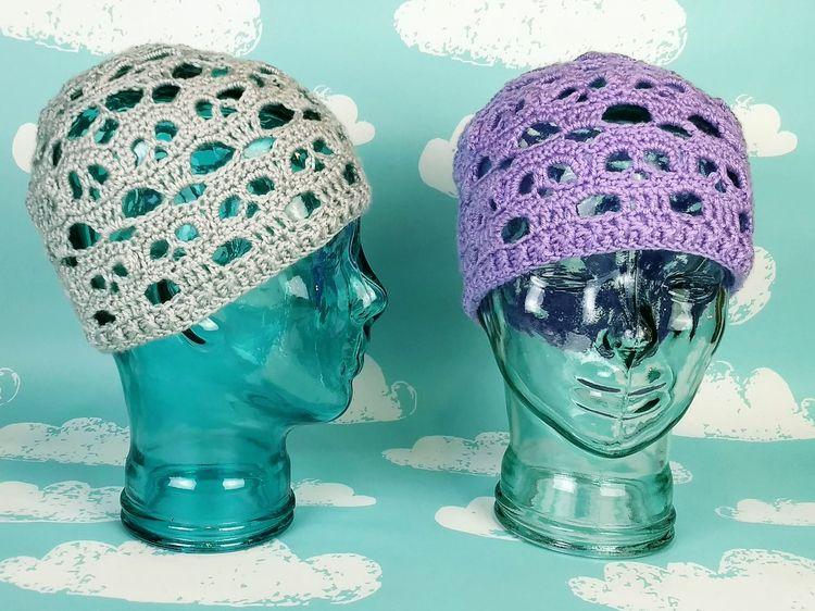 Stack Skulls Beanies grey laven - miniaturemonkeycreations | ello