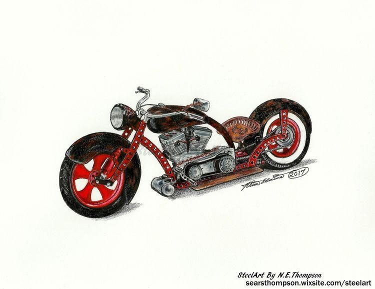 art, drawing, realism, ratrod - n_e_thompson | ello