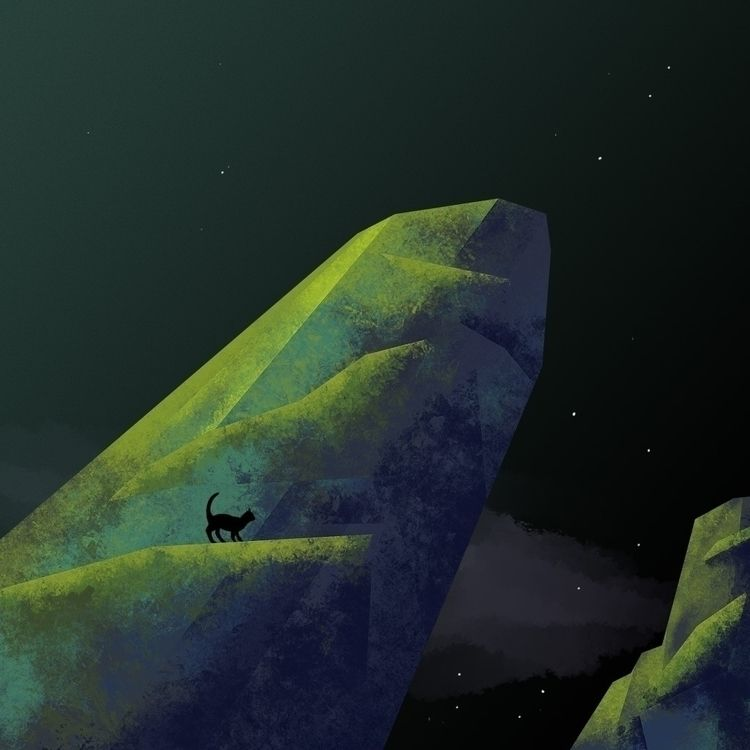 Midnight - environmentart, landscape - overmind | ello