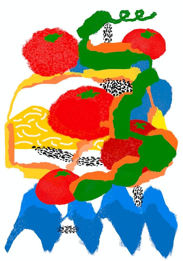 <Tomato season&gt - illustration - draw_spring | ello