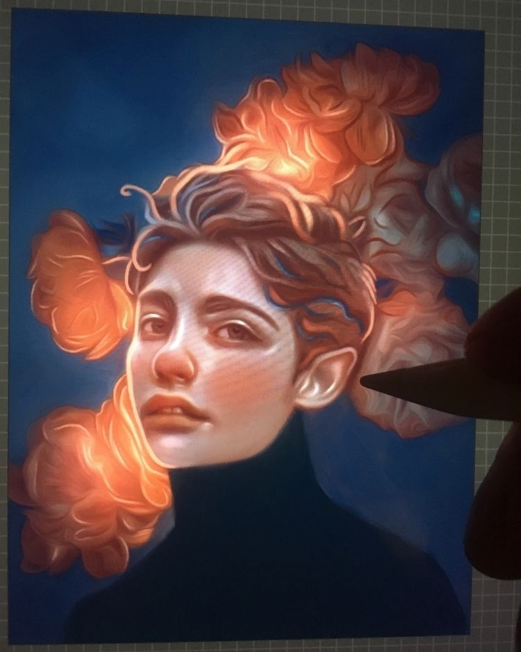 Wip-Magical flowers - veuliahart | ello