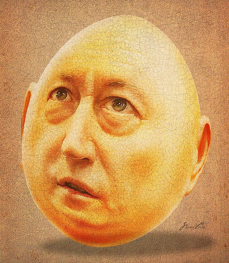 Senator Fraser Anning, bit egg  - stevevdh | ello
