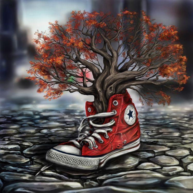 Roots 01 - digital painting Iai - iain_rennie_art   ello