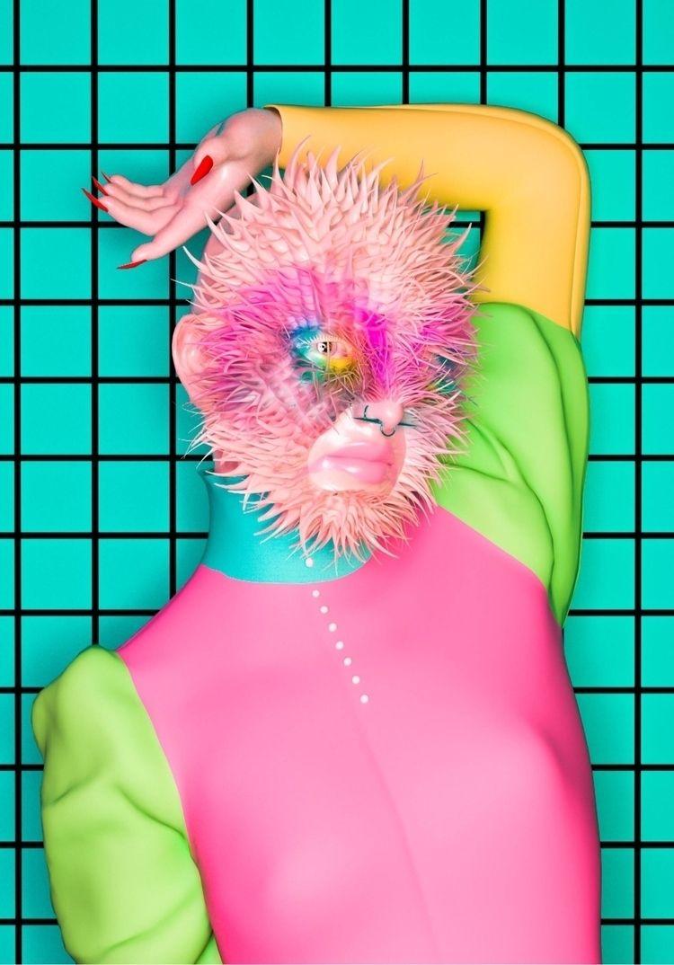 Pastel alien  - Art, 3Dart, Cinema4D - darlingdesign | ello