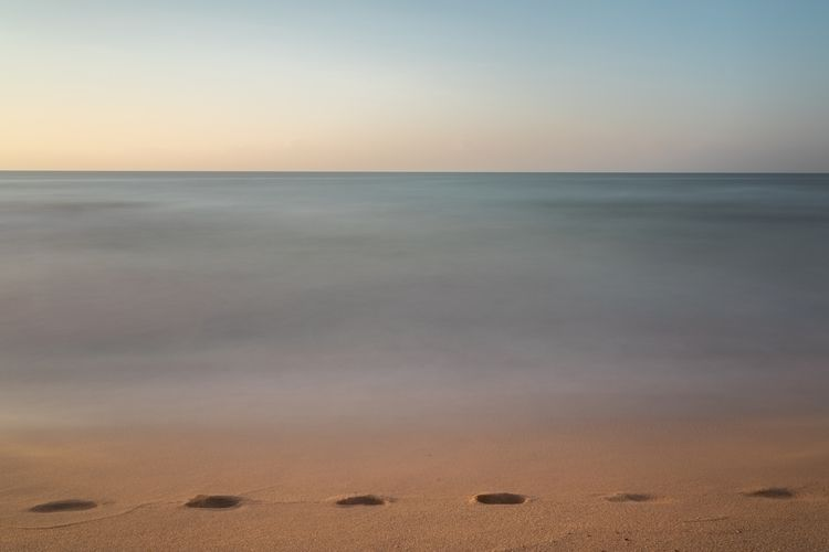 ..footprints - longexposure, sea - ppahka | ello