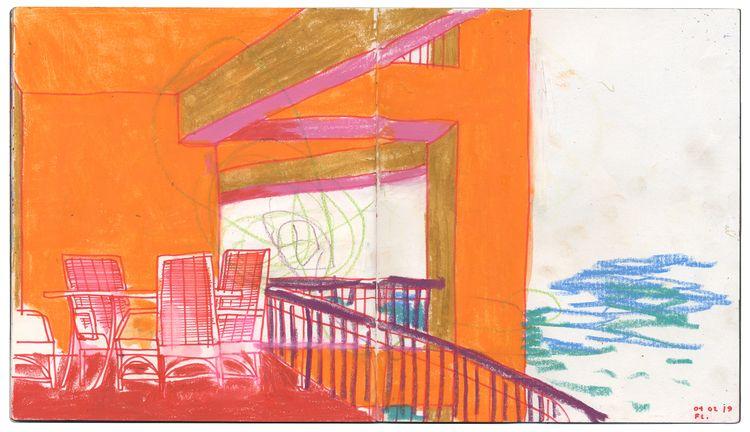 balcony. 040219. orange - sketchbook - ebencom   ello