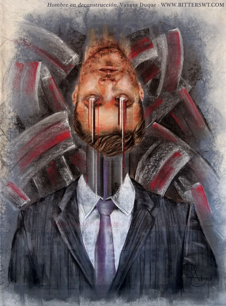 «Man deconstruction», artwork V - bitterswt | ello