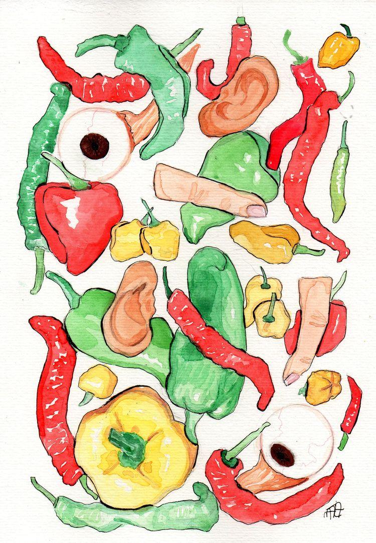 Spicy - illustration, drawing, elloart - nataliadamiao | ello
