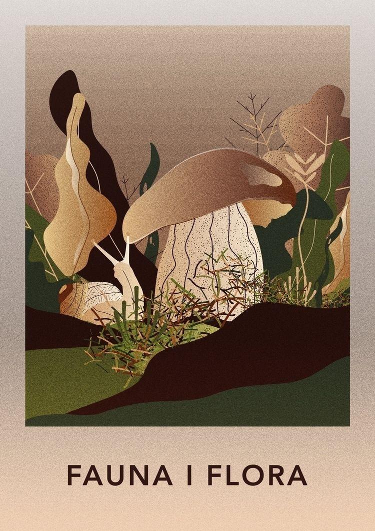 Fauna Flora ••••••• illustratio - ewelinagaska | ello