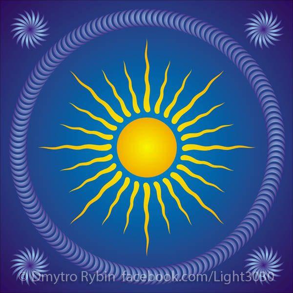 Sunny mandala - sun, sunny, rotate - dmytroua | ello