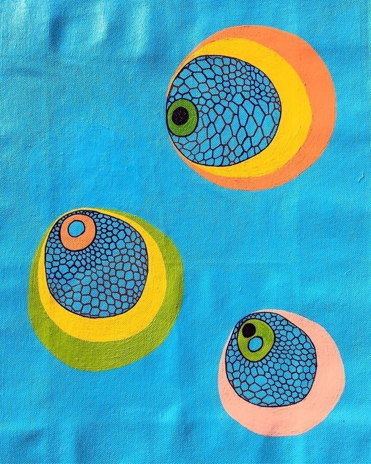 Thoughts blue sky • Acrylic can - chumbenikikon | ello
