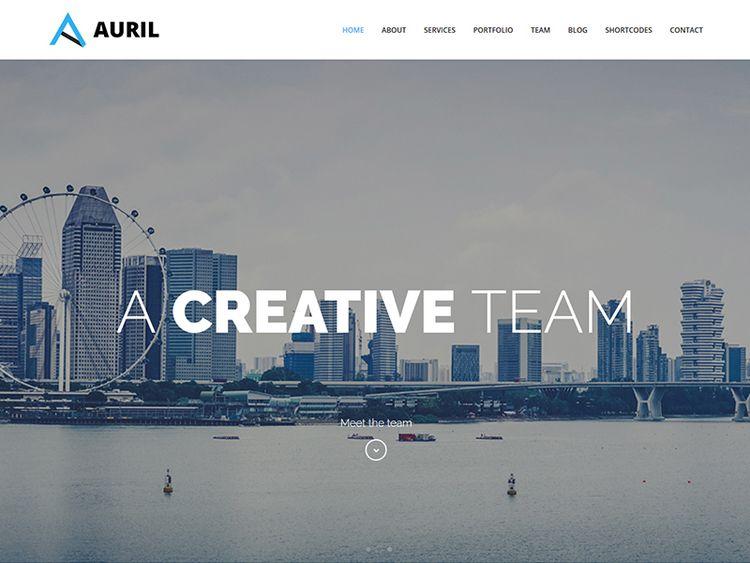 Auril Creative Page WordPress T - flashblue | ello