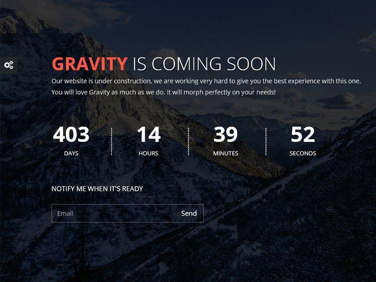 Gravity Responsive Coming WordP - flashblue | ello