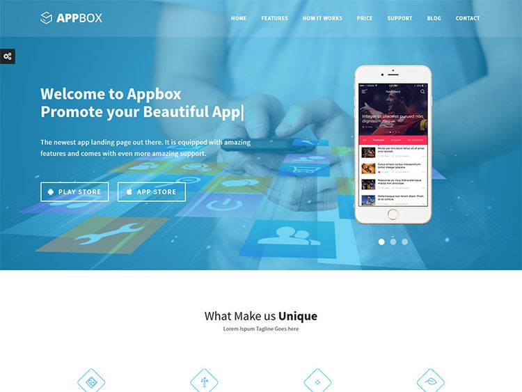 Appbox Responsive App Landing T - flashblue | ello
