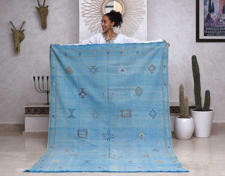 Moroccan Cactus silk rugs, Boho - marcbadyi | ello