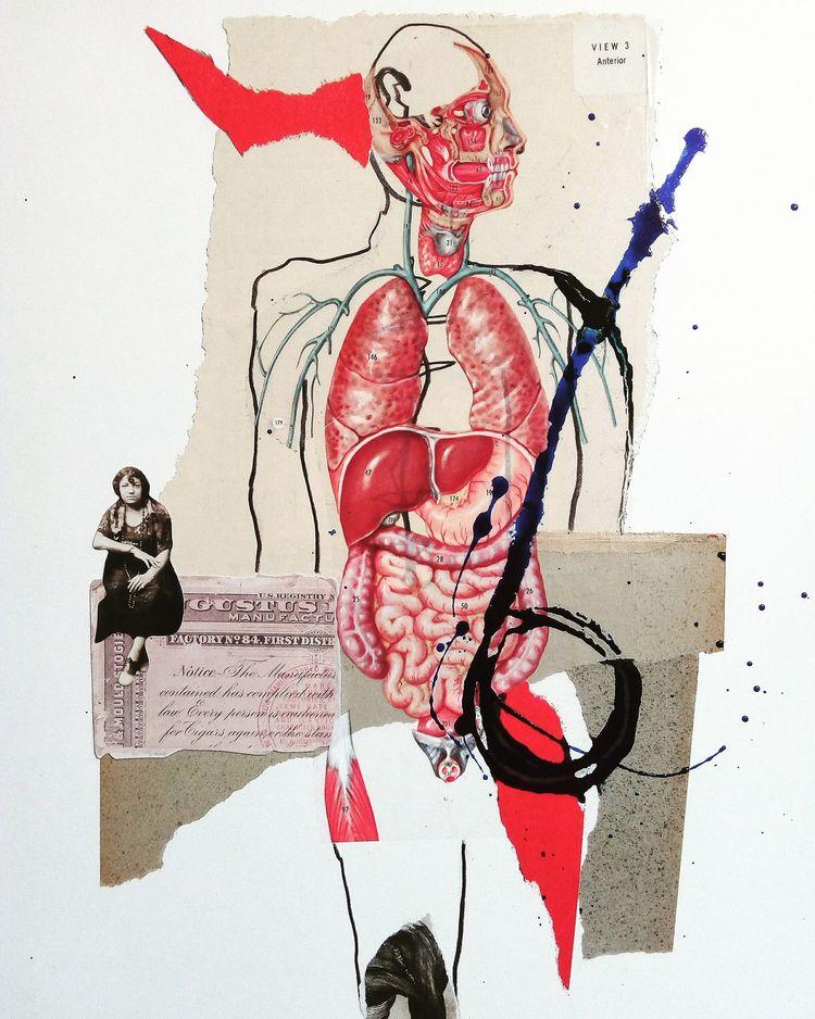art, collage, cutandpaste, ink - sanchezisdead | ello