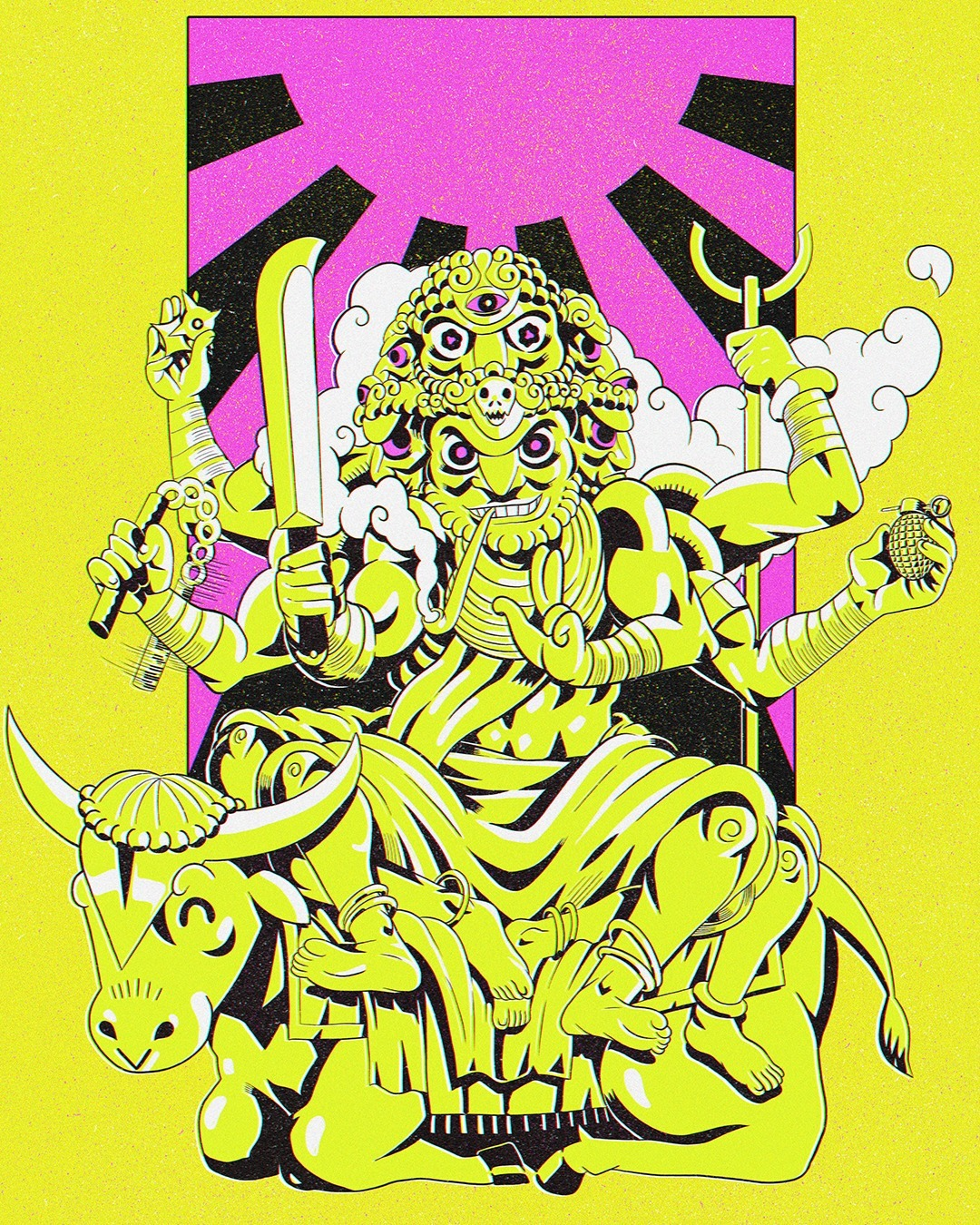mastered - buddha, death., illustration - suga-cyan   ello