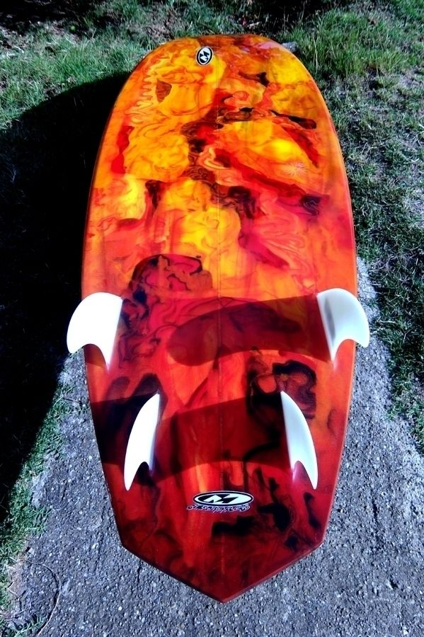 Resin color work glass ons fins - malconsurfboards | ello