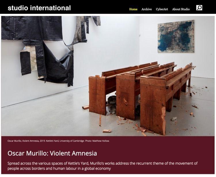 Oscar Murillo: Violent Amnesia - studiointernational   ello
