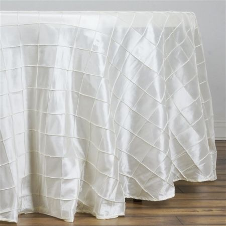 108 Ivory Tablecloth Pintuck di - razatrade | ello