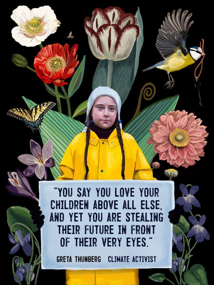 Artist Statement: Greta Thunber - brookefischer | ello