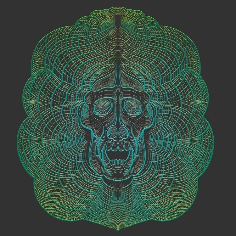 Vector Gorilla Skull, playing c - soper   ello