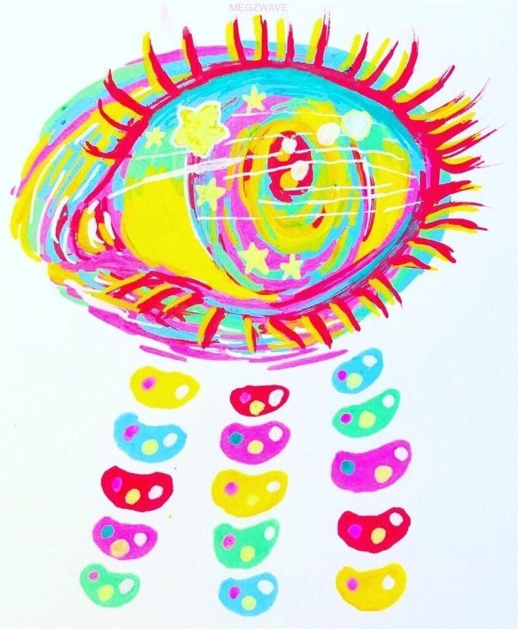 colorful rainbowy eyeball exper - megzwave | ello