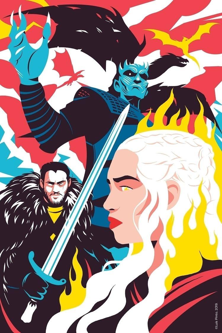 Game Thrones graphic tribute. P - luispintos | ello