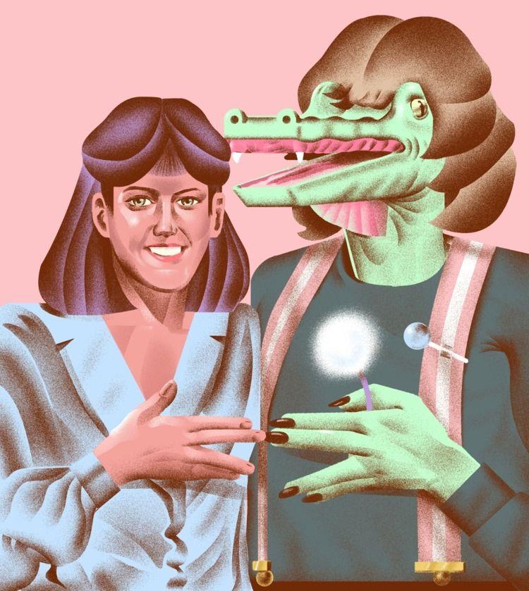 illustration, illustrator, pink - richardachance | ello