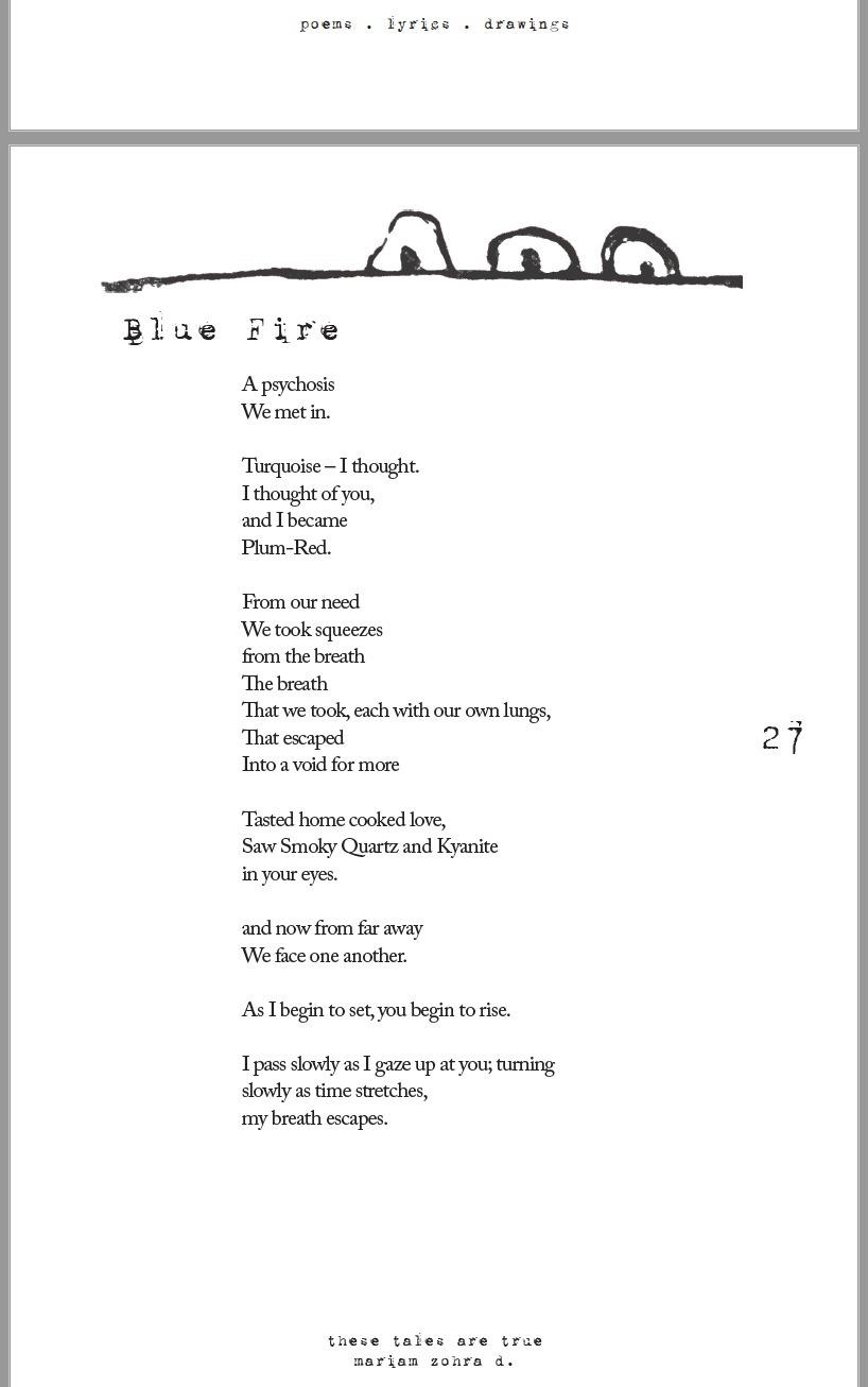 Blue Fire, Tales True - poems  - myrh | ello