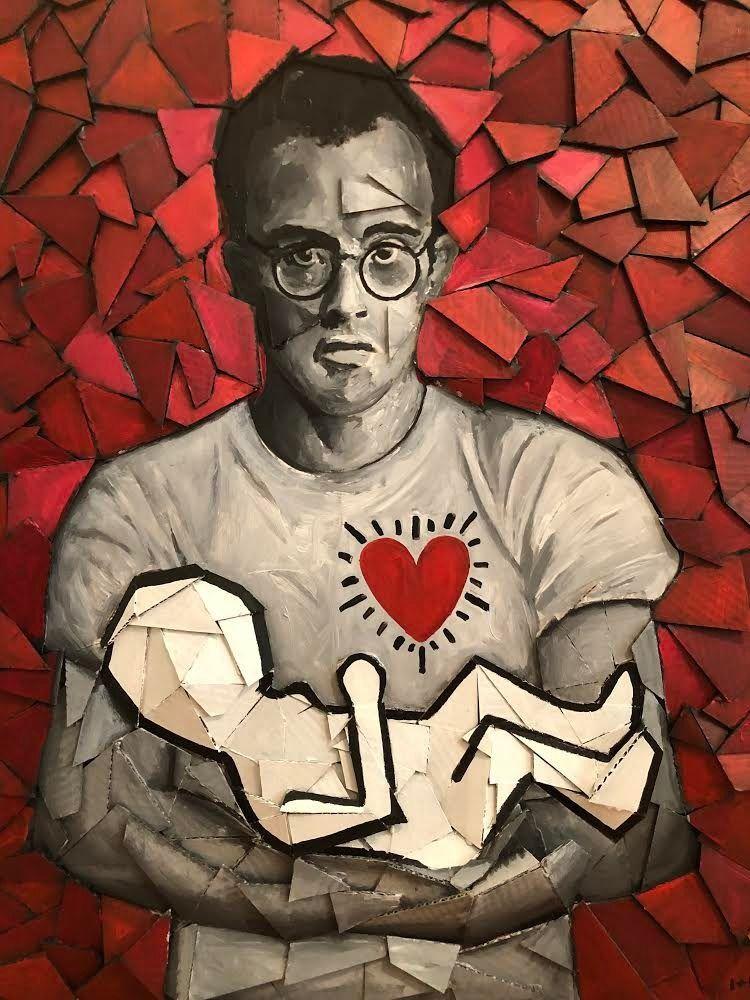 Keith Haring Tomaso Albertini 3 - lazysusangallery   ello