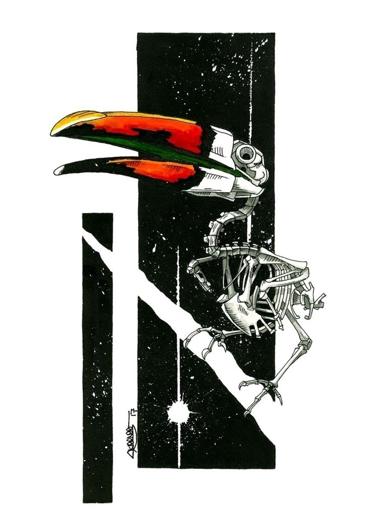 Toucan Skeleton, Skeenee, Fount - skeenee   ello