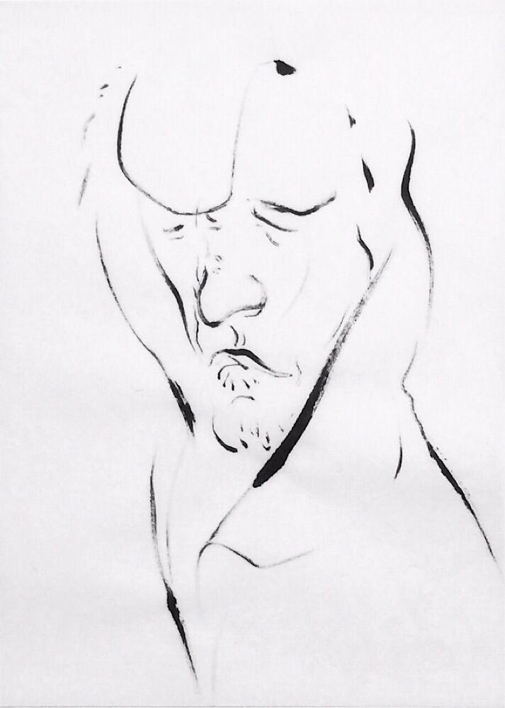 art, ink, sketch, portrait, mlui - mlui | ello