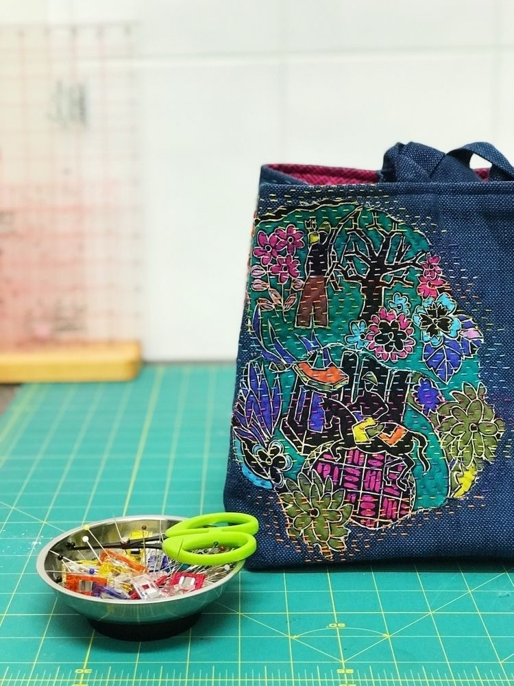 finished boro / kantha stitched - thepatchworkpear | ello