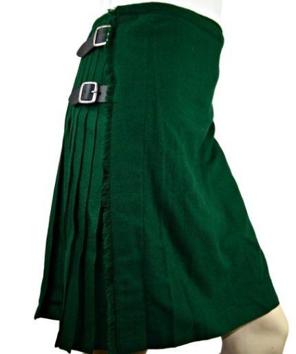 Irish Traditional Solid Green K - kiltandjackets | ello