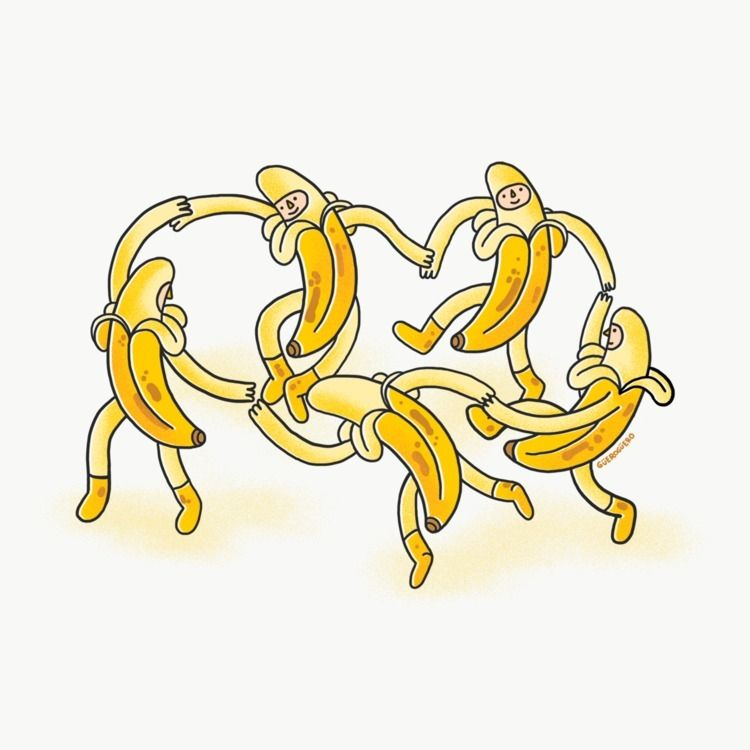 tribute Matisse bananas - illustration - gueroguero | ello