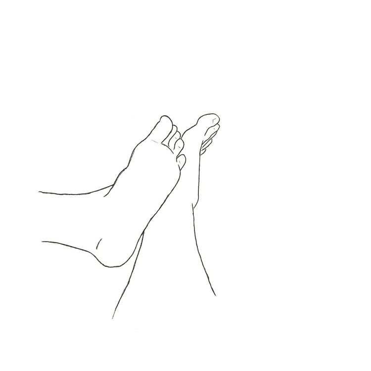 feet touching 1 2 - sketch, digitalsketch - evandsears   ello