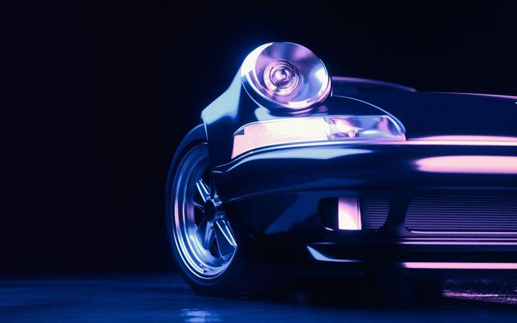 Porsche shadering - 3D, retro, car - jbcoroyer | ello