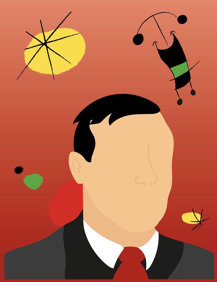 follow portrait Joan Miró, part - 952design | ello