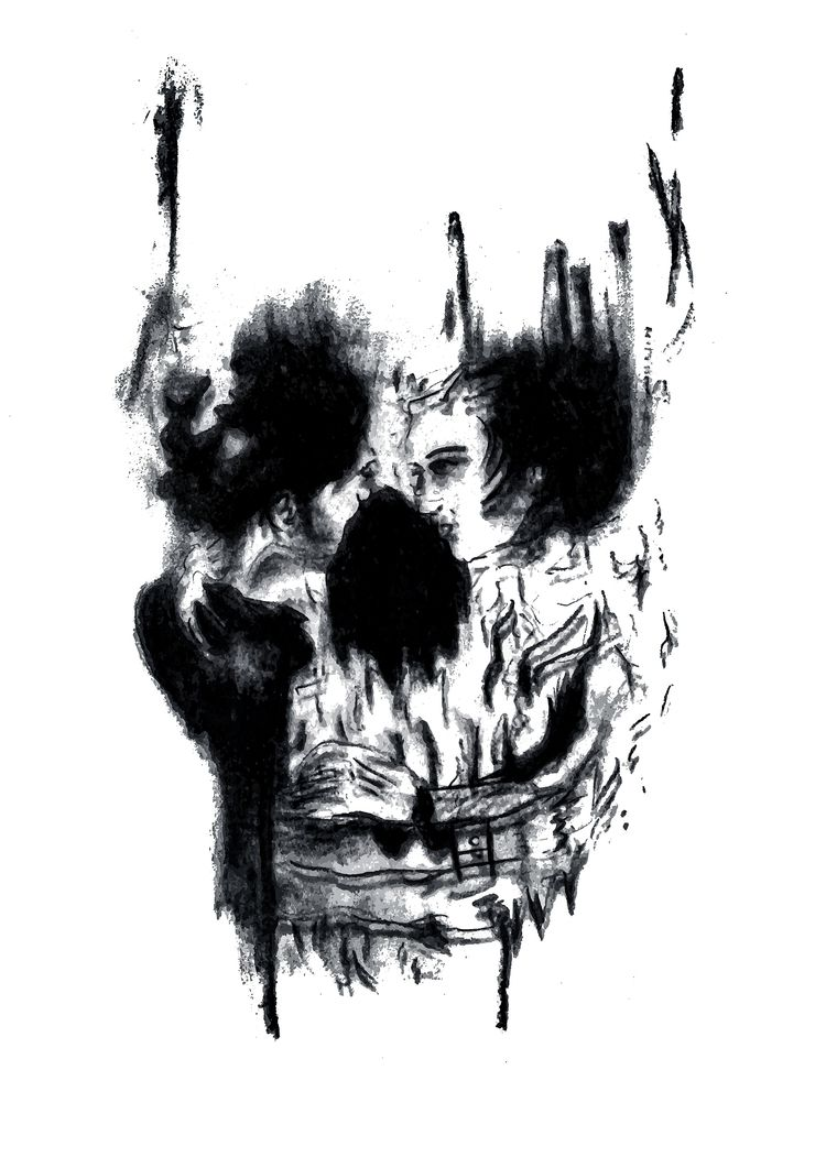 Skull Illusion, Black White - stephz129 | ello