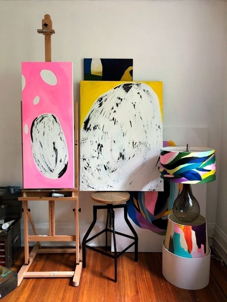 "chase light"" sister painting, f - angietherose   ello"